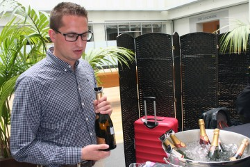 The latest generation of champagne makers of L'Hoste