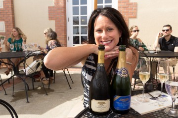 Happy at Domaine Carneros