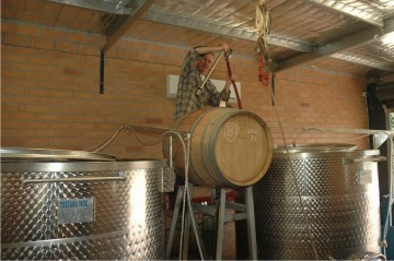 racking the wine