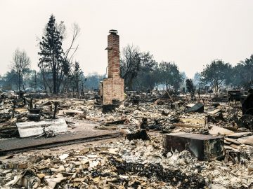 Napa fire devastation