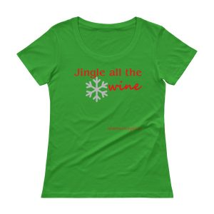 Jingle all the Wine Ladies' Scoopneck T-Shirt