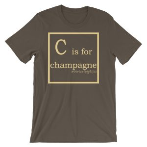 C is for champagne Short-Sleeve Unisex T-Shirt