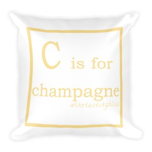 C is for champagne Square Pillow