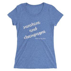 Sunshine and Champagne Ladies' short sleeve t-shirt