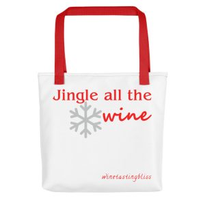 Jingle all the wine Tote bag