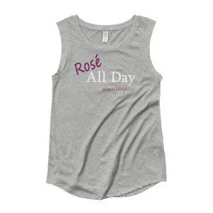 Rosé All Day Ladies' Cap Sleeve T-Shirt