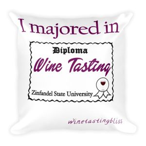 I majored in Wine Tasting Square Pillow