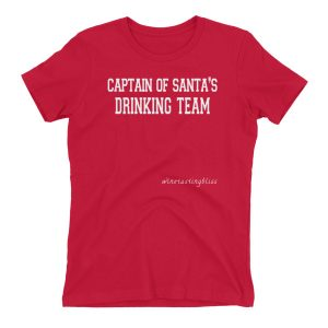 Captain of Santa's Drinking Team Women's t-shirt