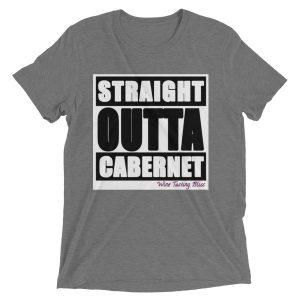 """Straight Outta Cabernet"" Ladies' Cap Sleeve T-Shirt"
