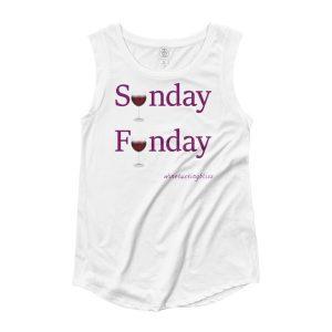 Sunday Funday Ladies' Cap Sleeve T-Shirt