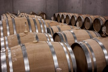 Wine barrels evaporation