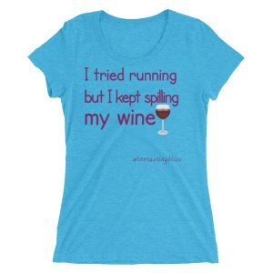 I tried running Ladies' short sleeve t-shirt