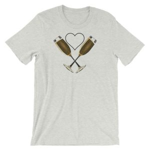 """""""A Heart for Champagne"""" Short-Sleeve Unisex T-Shirt"""