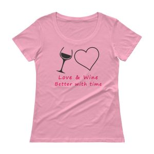 """Love and Wine"" Ladies' Scoopneck T-Shirt"