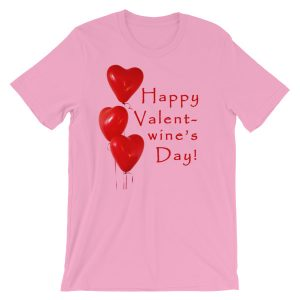 Happy Valent-wine's Day Short-Sleeve Unisex T-Shirt