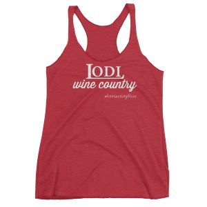 """Lodi Wine Country"" Women's Racerback Tank"
