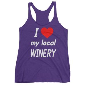 I HEART My Local Winery Women's Racerback Tank