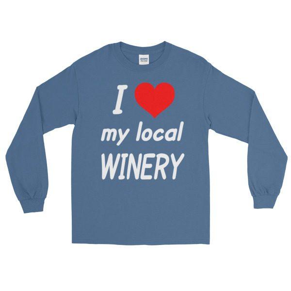 """""""I HEART My Local Winery"""" Long Sleeve T-Shirt"""