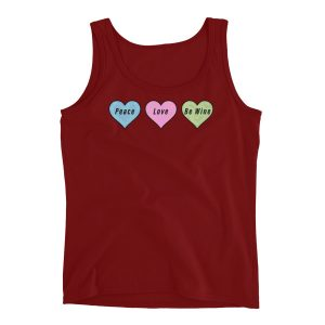 Peace, Love, Be Wine Ladies' Tank