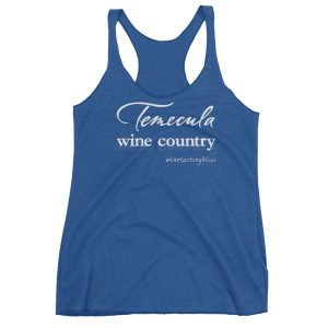 Temecula Wine Country Women's Racerback Tank