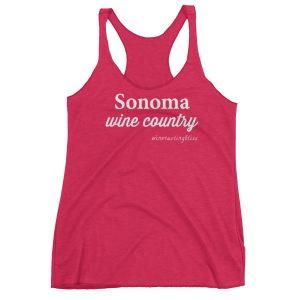 Sonoma Wine Country Women's Racerback Tank