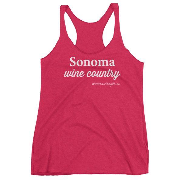 """Sonoma Wine Country"" Women's Racerback Tank"