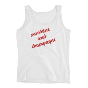 """Sunshine and Champagne"" Ladies' Tank"