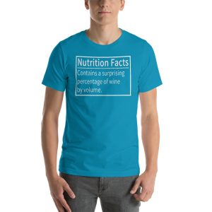 Wine Nutrition Facts Short-Sleeve Unisex T-Shirt