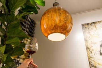 scratch wine light fixture