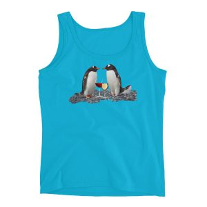 Penguins and Wine Ladies' Tank