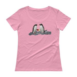 Penguins and Wine Ladies' Scoopneck T-Shirt