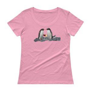 Penguins and Wine Ladies' Scoopneck T-Shirt