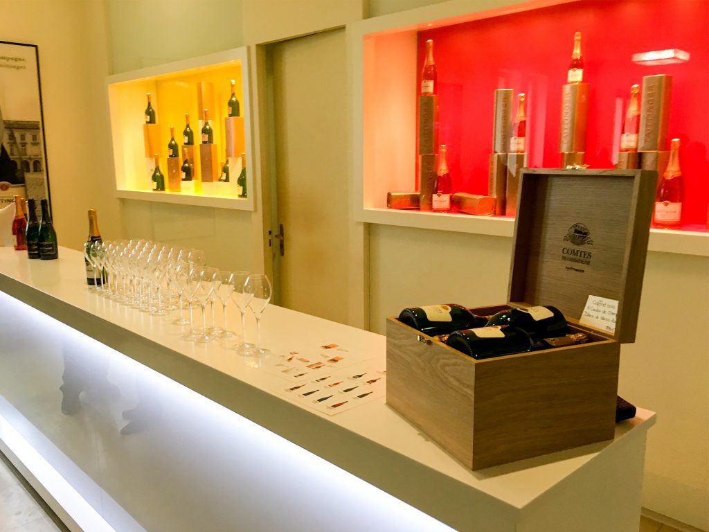 taittinger tasting bar