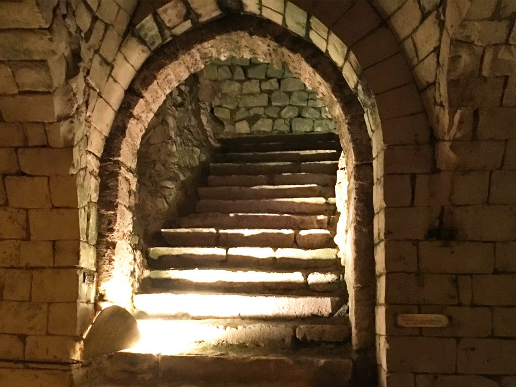 taittinger ancient stairs