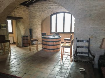 domaine newman barrel room