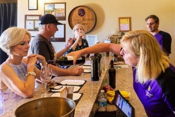 cuda ridge winery margie pouring