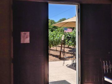 cuda ridge wines doorway