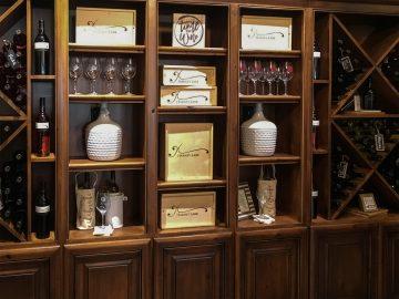 harney lane winery shelves