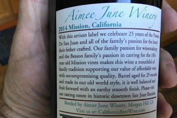 posada wine label