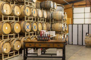 d'art wines barrel room