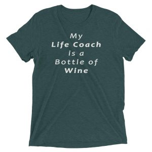 My Life Coach is a Bottle of Wine Short sleeve t-shirt