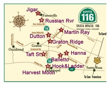 Taste of Rt 116 Map