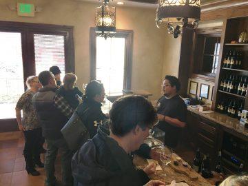 Las Positas Vineyards tasting bar