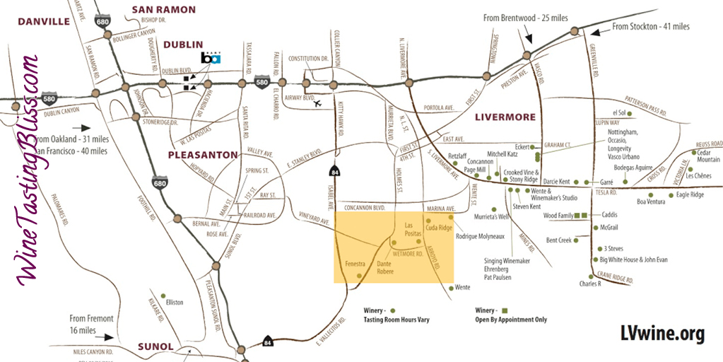 The 12 Wine Districts of Livermore