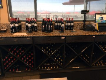 rock wall wine bottles