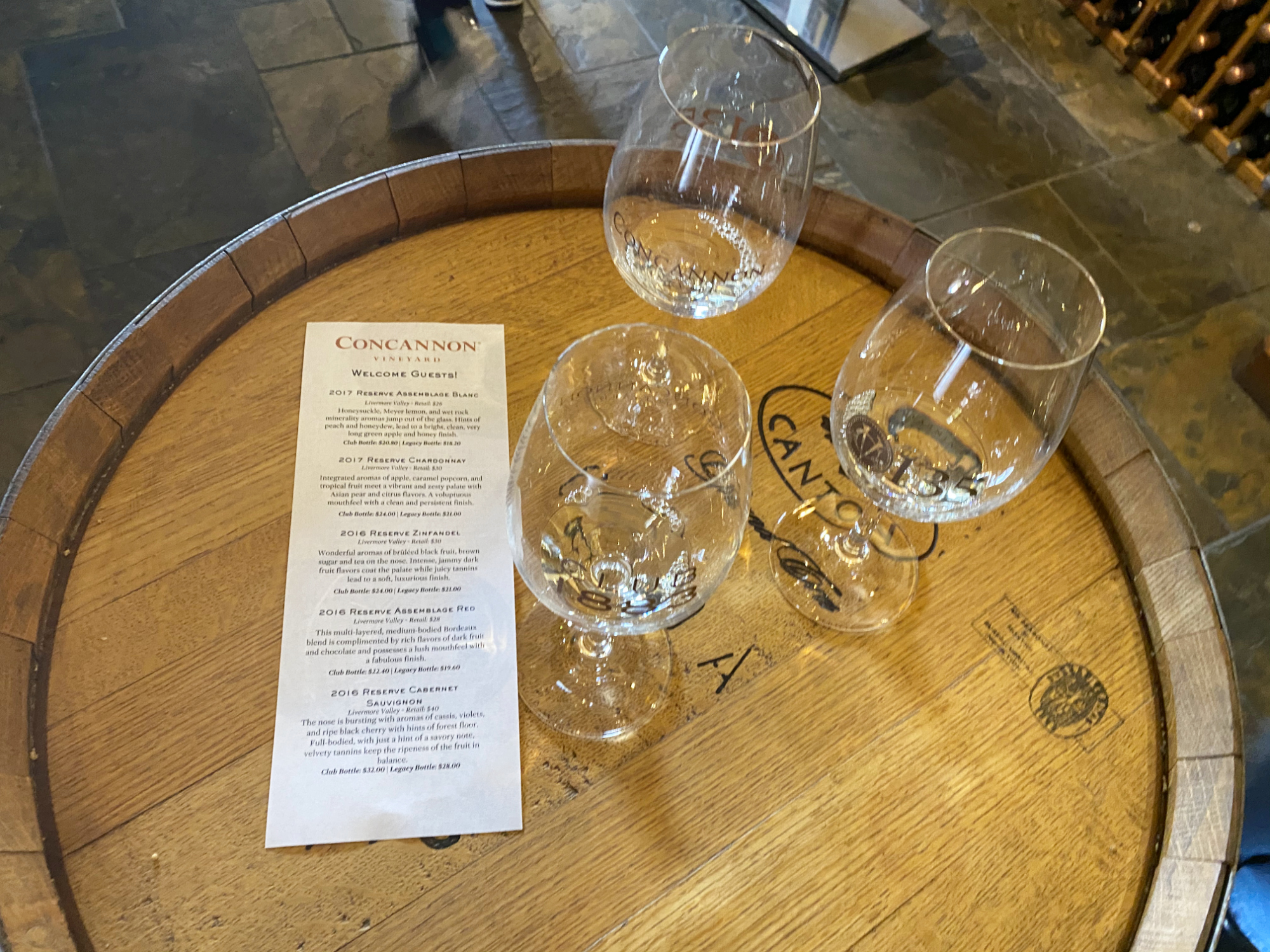 A Winter Tasting at Concannon Vineyard