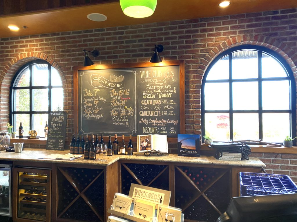 Concannon Tasting Room Wall