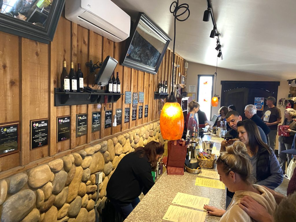 Page Mill 2020 Indoor Tasting Bar