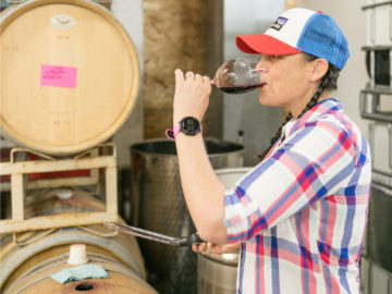 Charles R Lisa Lee barrel tasting
