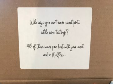 To Go Tasting Box Motto